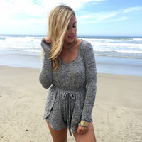Twisted Fate Romper In Grey