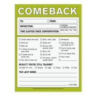 Comeback Nifty Note - A Funny Notepad by Knock Knock