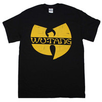 Wu Tang Clan Classic Yellow Logo T-Shirt Officially Licensed