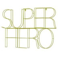 "Super Hero Wire Wall Décor (33""x22"") Lime Green - Pillowfort™"