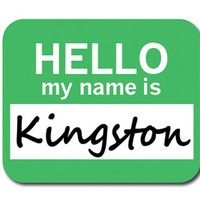 Kingston Hello My Name Is Mouse Pad