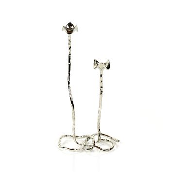 Shop Handmade silver Taper Candle Holder | Peetal and Carissa