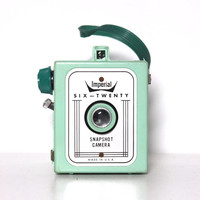 Vintage 60s Mint Green Imperial Six-Twenty 620 Snapshot Camera | 1960s Film Analog Photography Photographer Gift Unique Art Deco Home Decor