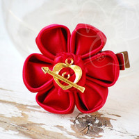 Catching Fire flower hair clip from VioletsBuds