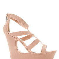Faux Suede Cut Out Wedges