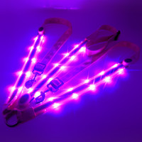 Night Racing Equestrian Riding Horse Bridle Halter Double LED safety Light Horses Neck Belt equipment