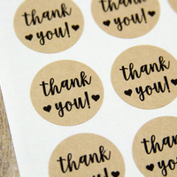 Thank You Stickers - Thank You Labels - Birthday - Wedding Labels - Wedding Stickers - Envelope Seals - Packaging - 63 Pieces