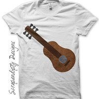 Guitar Iron on Transfer - Music Iron on Shirt PDF / Kids Guitar Shirt / Toddler Hippie Tshirt / Boys Musical Printable / Mens Music IT199