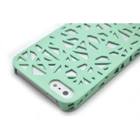 For iPhone 5 Wydan Mint Green Birds Nest Woven Designed Ultra Thin Hard Case Cover: Cell Phones & Accessories