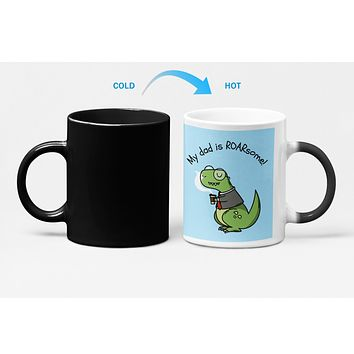 My Dad is Roarsome Heat Sensitive Color Changing Mug