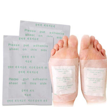 Detox Foot Pads Patch Detoxify Toxins Adhesive Keeping Fit Health Care 2 In 1 Set