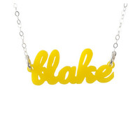 (A-B) Nameplate Necklaces