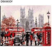 New Framed Wall Painting Picture Painting By Numbers Of City Realist DIY Oil Painting Home Decor For Living Room GX8088