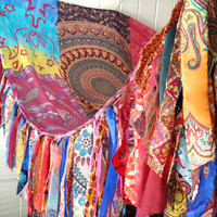 Boho Bed canopy Hippie Hippiewild Bohemian Hippy scarves Gypsy hippie canopies wall Decor curtain photo backdrop Fringe coachella festival