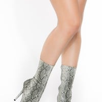 Grey Faux Snake Pointed Toe Booties @ Cicihot. Booties spell style, so if you want to show what you're made of, pick up a pair. Have fun experimenting with all we have to offer!