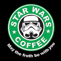 StarWars Coffee May The Froth Be With You Funny T-Shirt S-XXL