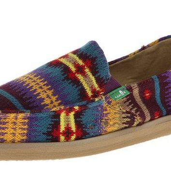 Sanuk Mika Purple Nordic Slip-On Shoes