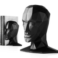 Knowledge in the Brain Bookends by Karim Rashid Black [GS-40002] - $180.00 - GSelect  - Gifts for Men. Unique, Cool Gift Ideas and Presents