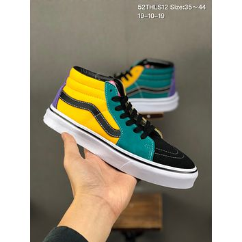 VANS Sk8 Mid cheap mens and womens Fashion Canvas Flats Sneakers Sport Shoes