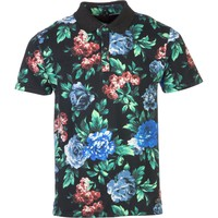 Insight Floral Polo Shirt - Men's Blue Note Floral,