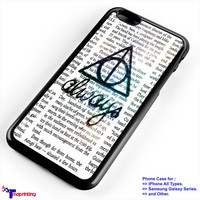 Always Symbol Harry Potter - Personalized iPhone 7 Case, iPhone 6/6S Plus, 5 5S SE, 7S Plus, Samsung Galaxy S5 S6 S7 S8 Case, and Other