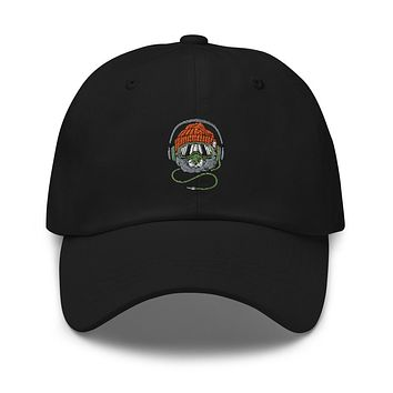 Music Animal Embroidered Strapback Dad Hat
