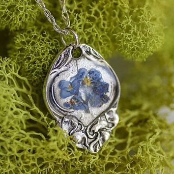 Flower Spoon Handle Necklace
