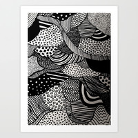 Black and White  Art Print by Urban Exclaim