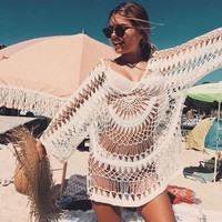 Hot Summer Sexy Swimsuit New Arrival Blouse Maxi Dress Handcrafts Beach Vacation Bikini [11774689306]
