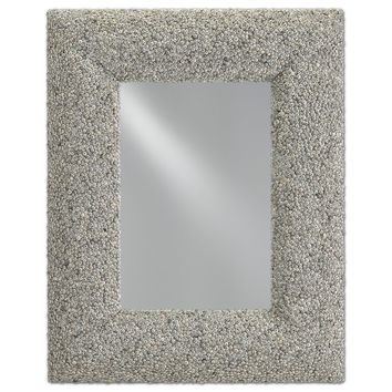 Batad Shell Mirror in Natural Batad Shell design by Currey & Company