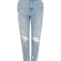 Pale Blue Ripped Jeans