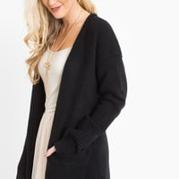 Gabrielle Black Knit Cardigan