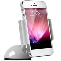 Koomus K2 Dashboard Windshield Universal Smartphone iPhone Car Mount Holder Cradle for iPhone 6 6+ 5 5S 5C 4S 4 3GS iPod Touch Samsung Galaxy S3 S4 S5 Note 2 Note 3 Google Droid GPS Smartphone car mount in White