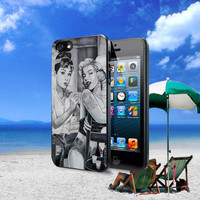 Audrey Hepburn and Marilyn Monroe Design For iPhone 4 4S iPhone 5 5S 5C and Samsung Galaxy S2 S3 S4 Case