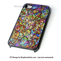 All Disney Heroes Stained Glass Iphone Case iPhone 4 4S 5 5S 5C 6 6 Plus Case , iPod 4 5 Case , Samsung Galaxy S3 S4 S5 Note 3 Note 4 Case , and HTC One X M7 M8 Case