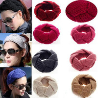 Crochet Knitted Headwrap for Women