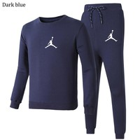 AIR JORDAN 2018 autumn and winter new casual men's outdoor running two-piece