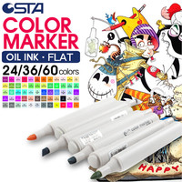 Professional Coloring Markers Set of 24/36/60 Permanent Markers | Marker Pen | Fine Tip Markers | Drawing Markers | Coloured Marker Pens