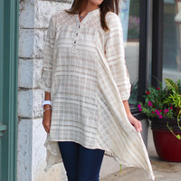 Check-In Woven Tunic Dress {Latte}