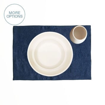 """USA Made French Linen 19"""" Placemat"""