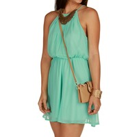 Mint Soft Pleats Dress