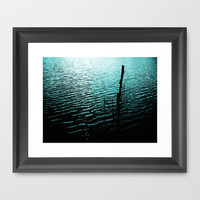Midnight Lake Framed Art Print by Moonshine Paradise
