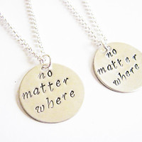 sisters necklace long distance, handstamped necklace personalized jewelry, gift for best friends best friend jewelry friendship bff necklace