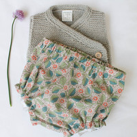 Liberty of London, floral diaper covers, baby undies, sizes 0 - 12 Months, infant girl, Limited Edition, Take home outfit