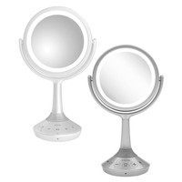 iHome® Portable Bluetooth® Double-Sided 6-Inch Vanity Mirror Speaker