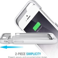 iPhone 6 Battery Case - UNU DX Protective iPhone 6 Battery Case ( 4.7 Inches) [Glossy White] - MFI Apple Certified 3000mAh External Protective iPhone 6 Charging Case / iPhone 6 Charger Case Rechargeable Extended Portable Charger Backup Battery Pack Cover C
