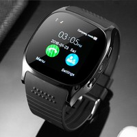 iWOWNfit T8 Smart Watch Phone Support SIM TF Card Bluetooth Smartwatch Pedometer Remote Control with 0.3MP Camera