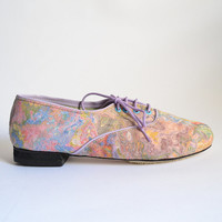 Pony Oxford Vegan Pastels Marbled Fabric (Handmade to order)