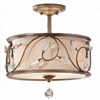 Countryside edison decorative living room crystal ceiling lamp light