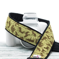 dSLR Camera Strap, Wolf, Bear, Deer, Elk, Pocket, Canon Camera Strap, Nikon Camera Strap, Camera Neck Strap, SLR, Binoculars, Pocket, 32 w